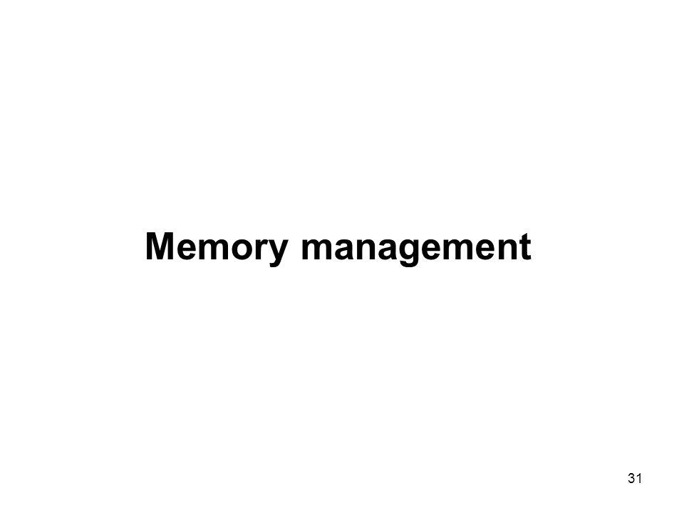 31 Memory management