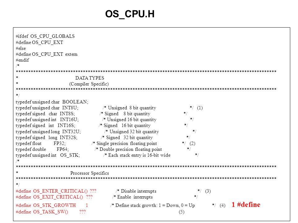 51 #ifdef OS_CPU_GLOBALS #define OS_CPU_EXT #else #define OS_CPU_EXT extern #endif /* ****************************************************************