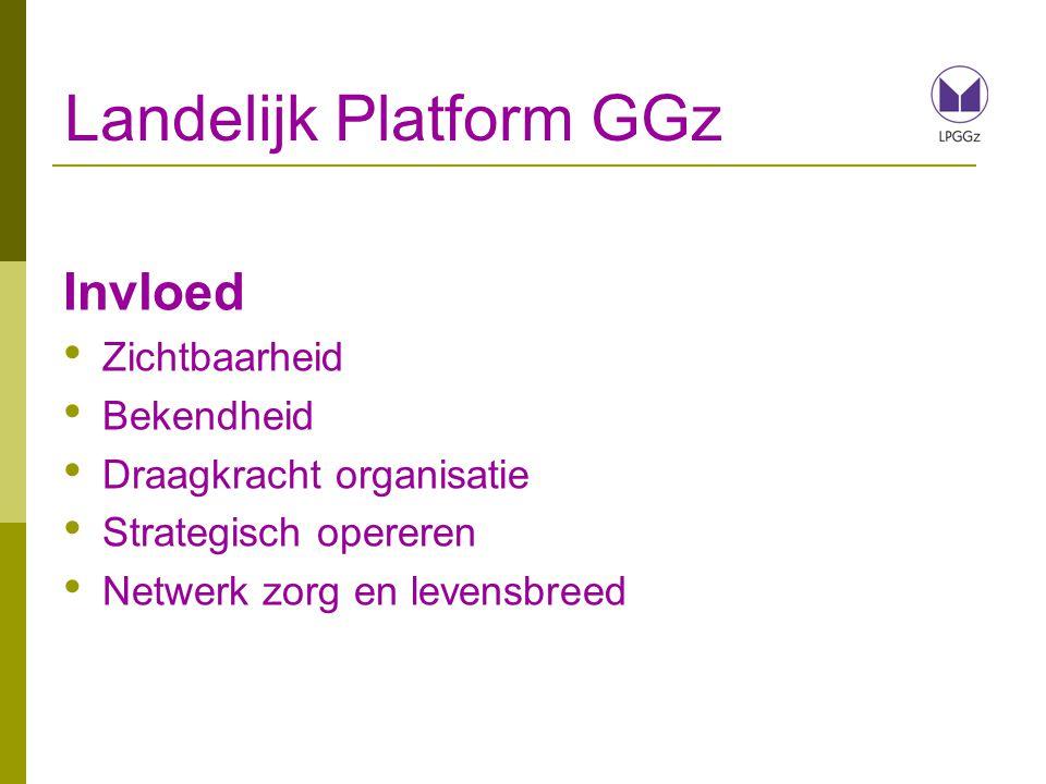 Landelijk Platform GGz Invloed Zichtbaarheid Bekendheid Draagkracht organisatie Strategisch opereren Netwerk zorg en levensbreed