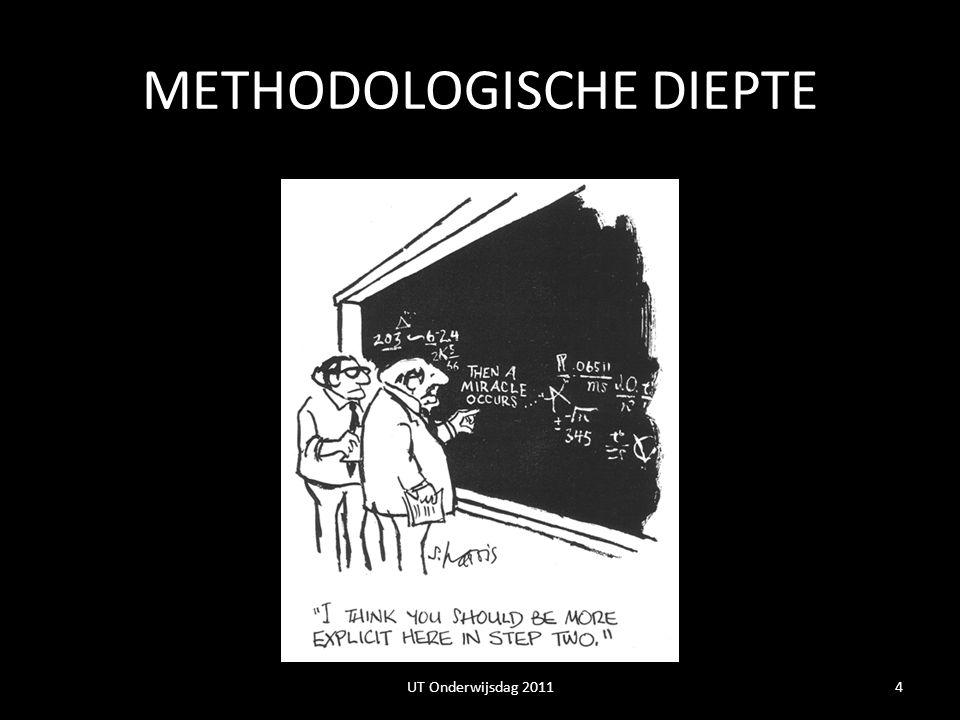 METHODOLOGISCHE DIEPTE 4UT Onderwijsdag 2011
