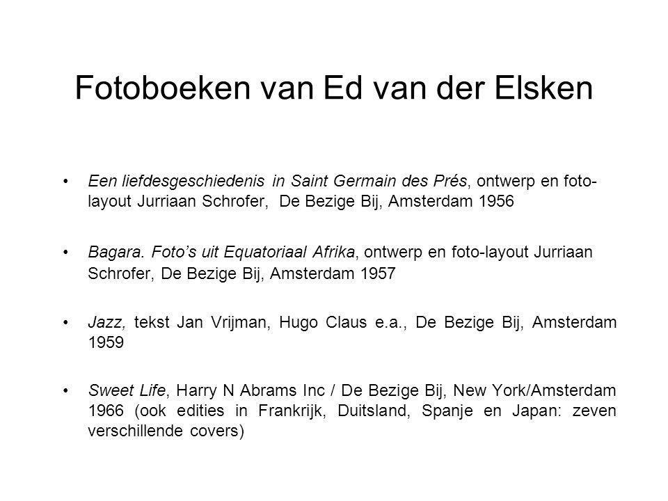 Fotoboeken van Ed van der Elsken Een liefdesgeschiedenis in Saint Germain des Prés, ontwerp en foto- layout Jurriaan Schrofer, De Bezige Bij, Amsterdam 1956 Bagara.