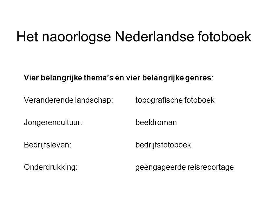 Het naoorlogse Nederlandse fotoboek Vier belangrijke thema's en vier belangrijke genres: Veranderende landschap:topografische fotoboek Jongerencultuur