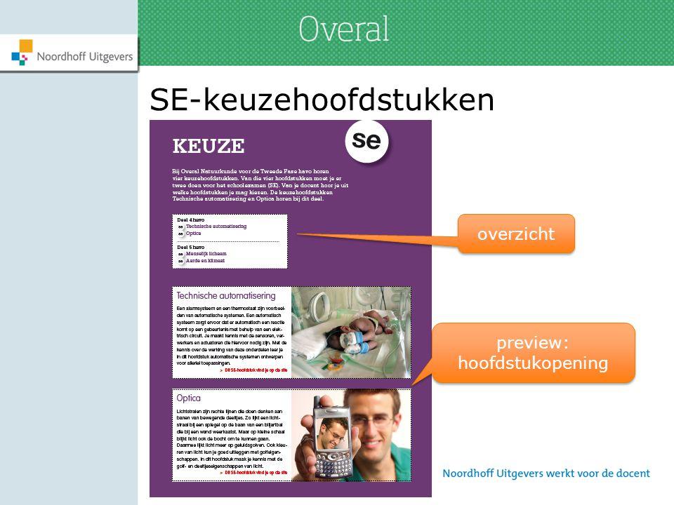 SE-keuzehoofdstukken overzicht preview: hoofdstukopening