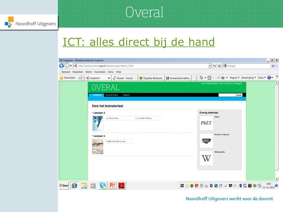 ICT: alles direct bij de hand