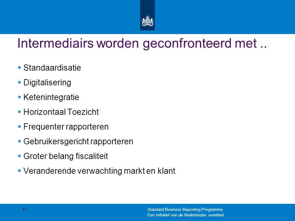 Intermediairs worden geconfronteerd met..
