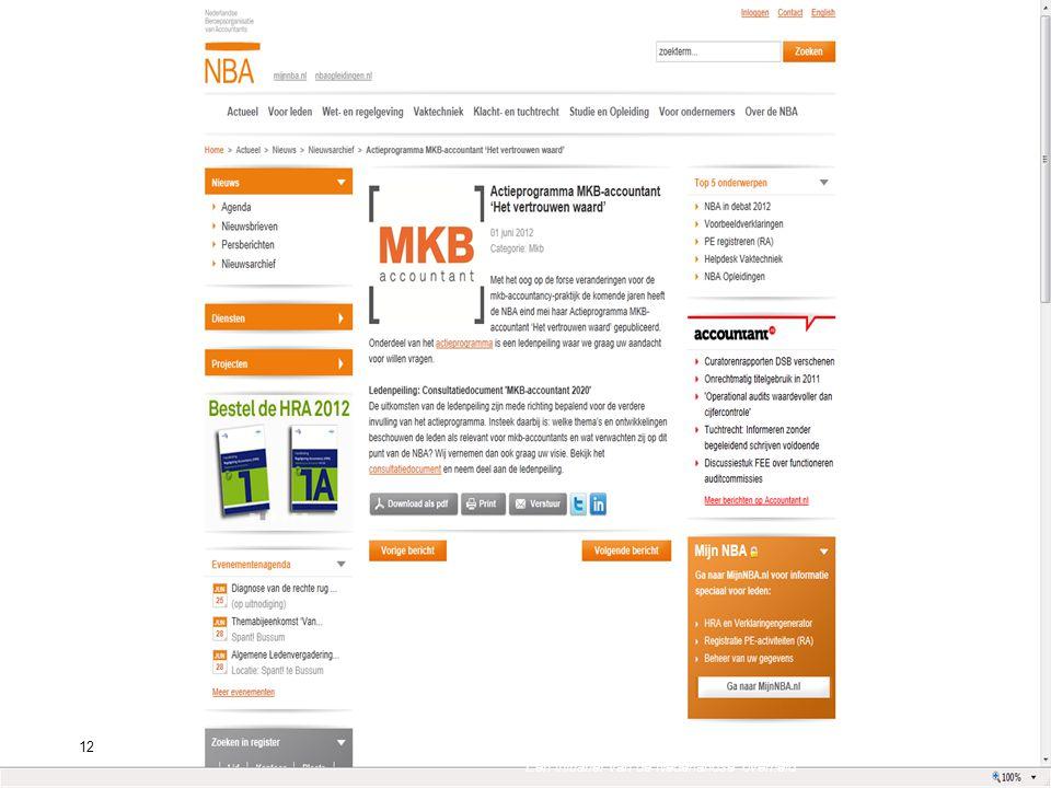 12Standard Business Reporting Programma Een initiatief van de Nederlandse overheid