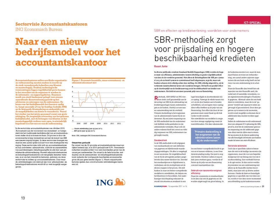 19Standard Business Reporting Programma Een initiatief van de Nederlandse overheid