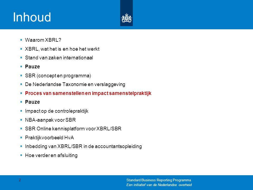 Inhoud  Waarom XBRL.