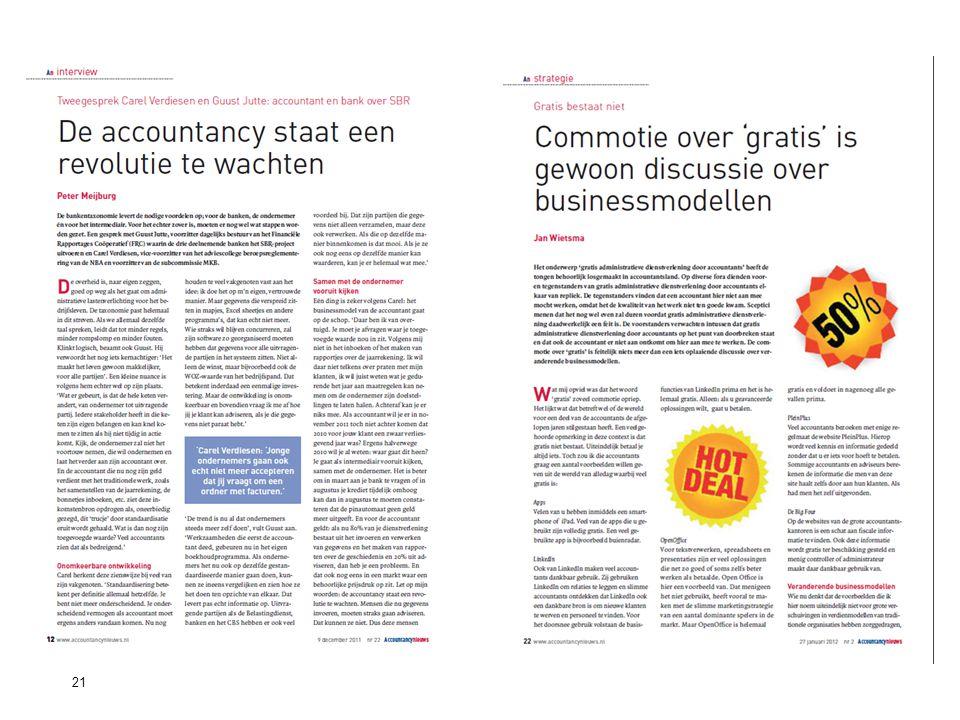 21Standard Business Reporting Programma Een initiatief van de Nederlandse overheid