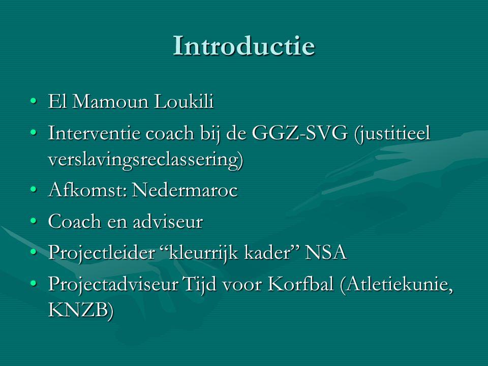 Introductie El Mamoun LoukiliEl Mamoun Loukili Interventie coach bij de GGZ-SVG (justitieel verslavingsreclassering)Interventie coach bij de GGZ-SVG (