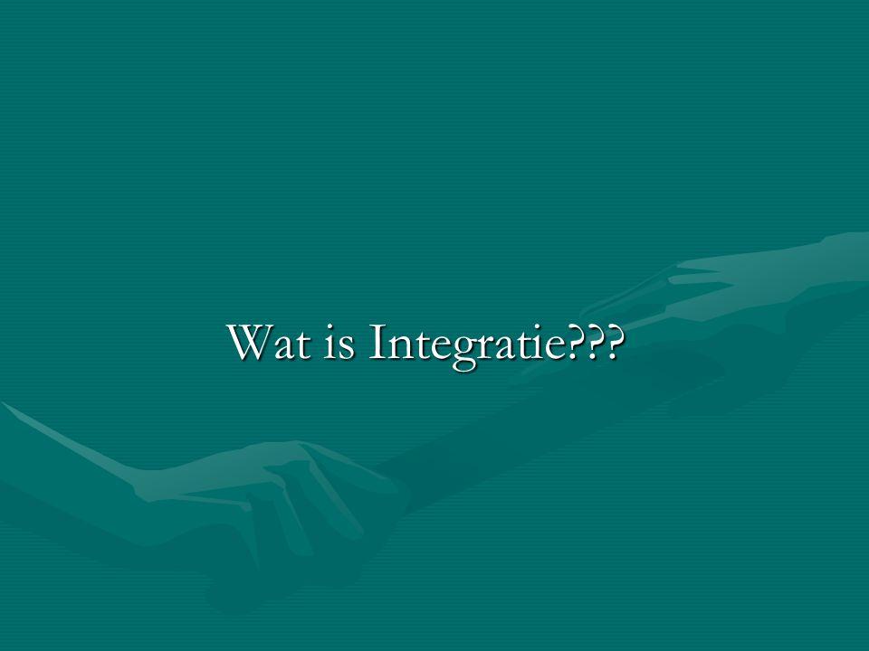 Wat is Integratie???