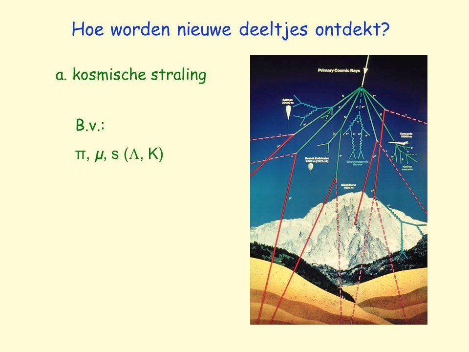 b. versnellers Hoe worden nieuwe deeltjes ontdekt? B.v.: c, b, t, 