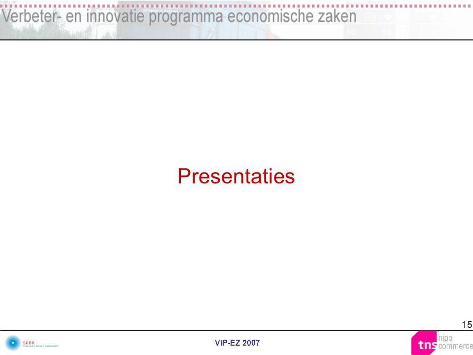 VIP-EZ 2007 15 Presentaties
