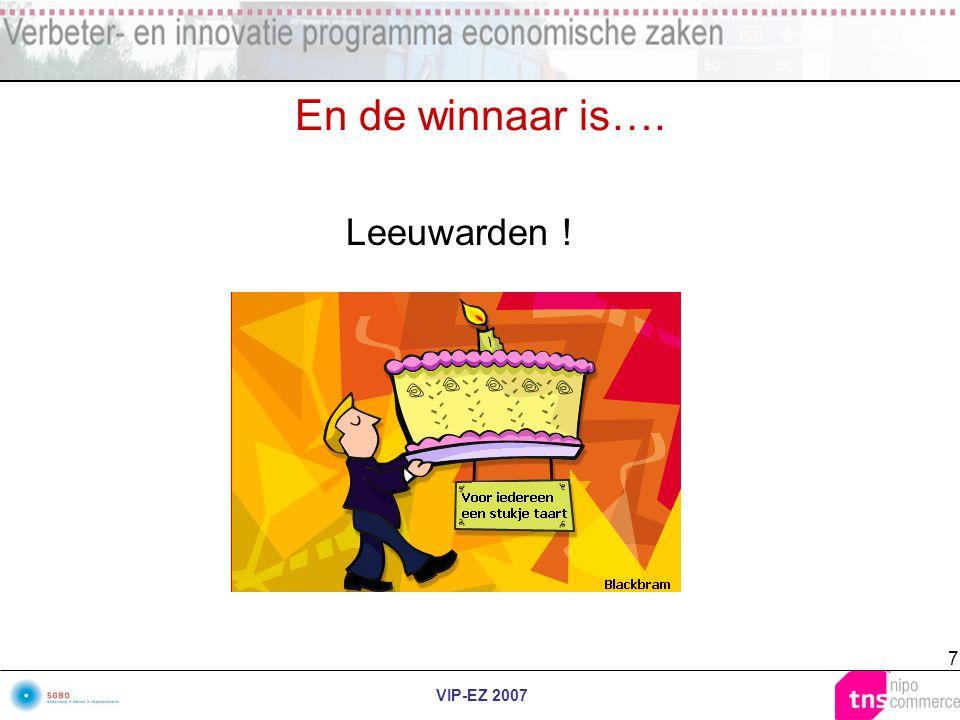 VIP-EZ 2007 7 En de winnaar is…. Leeuwarden !