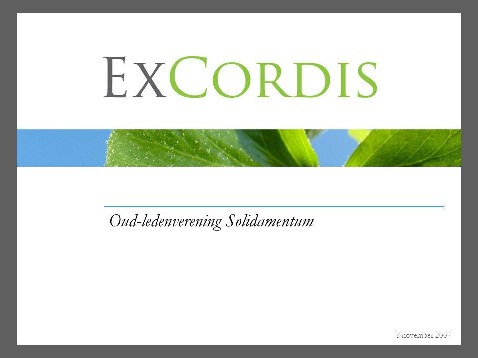 3 november 2007 Oud-ledenverening Solidamentum