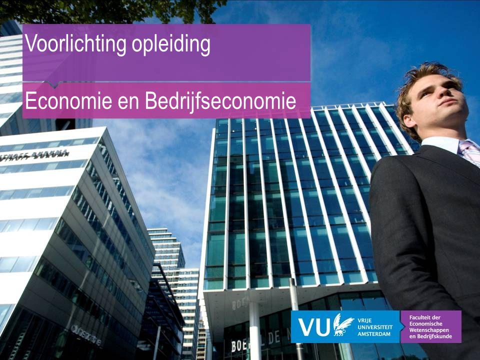 Voorlichting opleiding Economie en Bedrijfseconomie