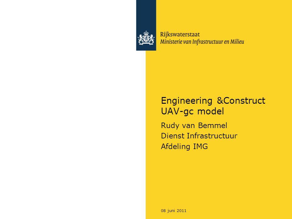 08 juni 2011 Engineering &Construct UAV-gc model Rudy van Bemmel Dienst Infrastructuur Afdeling IMG