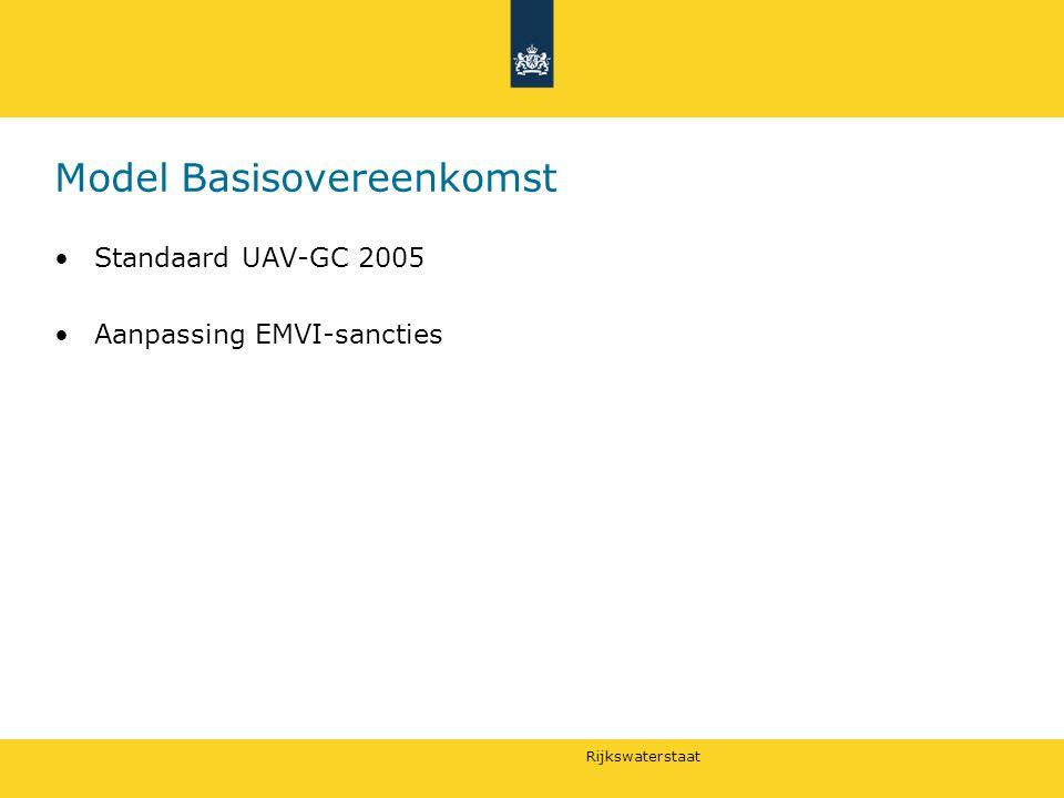Rijkswaterstaat Model Basisovereenkomst Standaard UAV-GC 2005 Aanpassing EMVI-sancties