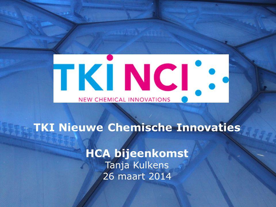 Ambitie: verbinden van wetenschappelijke excellentie in de chemie met vragen uit het bedrijfsleven in kleine PPS-programma's, die innovatiepotentieel hebben Bestuur:Bert Weckhuysen (UU) Bert Jan Lommerts (Latexfalt) Marcel Wubbolts (DSM) Floris Rutjes (RU) Middelen:instrumentarium voor PPS via NWO (CHIPP, TA, KIEM), M€ 20 (2014-2015) plus ca.