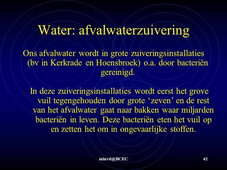 mlavd@BCEC41 Water: vervuiling + =