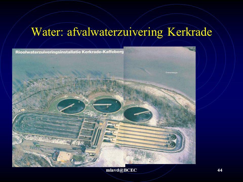 mlavd@BCEC43 Water: afvalwaterzuivering Kerkrade Afvalwater uit een groot gebied wordt verzameld en in 1 afvalwaterzuivering gereinigd Schaes- berg Eygels- hoven Spekholzer- heide