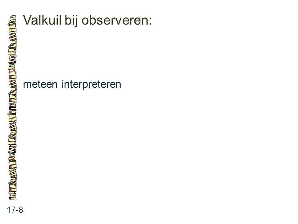 Valkuil bij observeren: 17-8 meteen interpreteren