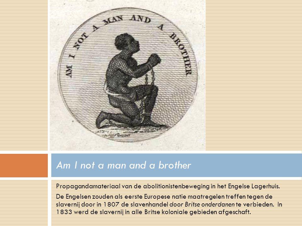 Propagandamateriaal van de abolitionistenbeweging in het Engelse Lagerhuis.