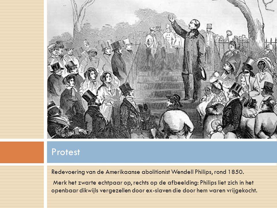 Redevoering van de Amerikaanse abolitionist Wendell Philips, rond 1850.