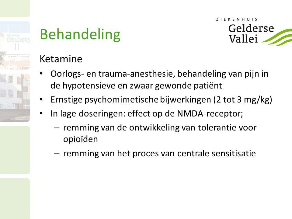 Behandeling Ketamine Oorlogs- en trauma-anesthesie, behandeling van pijn in de hypotensieve en zwaar gewonde patiënt Ernstige psychomimetische bijwerk