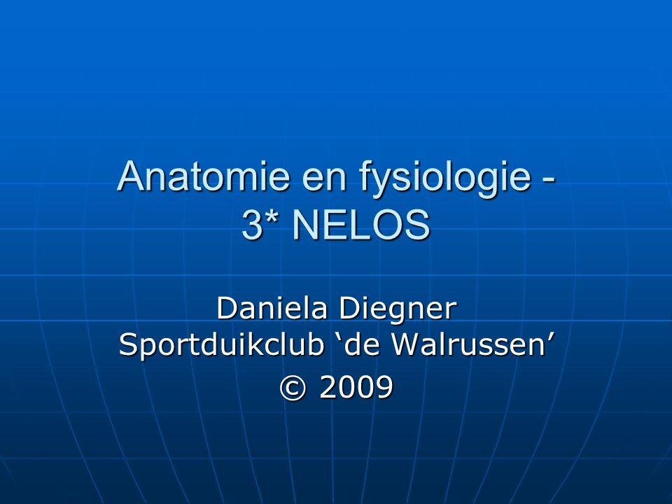 Anatomie en fysiologie Anatomie en fysiologie Metabolisme (stofwisseling) Metabolisme (stofwisseling) Ademhaling Ademhaling Samenstelling van lucht Samenstelling van lucht Longvolumina Longvolumina Regulatie van de ademhaling Regulatie van de ademhaling Bloedsomloop Bloedsomloop Samenstelling van het bloed Samenstelling van het bloed Duikreflex Duikreflex Neus –Keel -Oor Neus –Keel -Oor