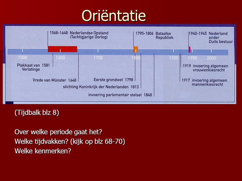 Oriëntatie (Tijdbalk blz 8) Over welke periode gaat het.
