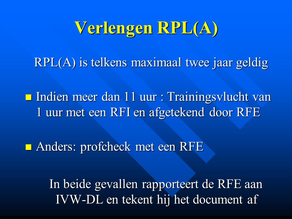 Bevoegdverklaringen Radio telefonieRT Instructeur RPL(A)RFI