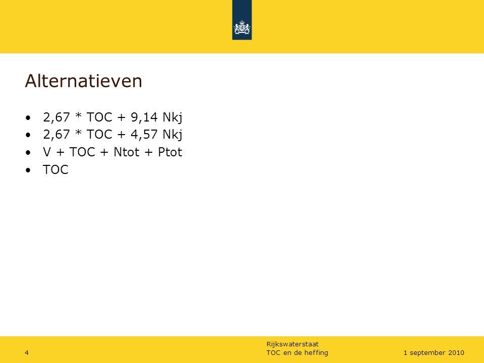 Rijkswaterstaat TOC en de heffing51 september 2010 Politieke randvoorwaarden Opbrengstneutraal Lastenneutraal Verontr.