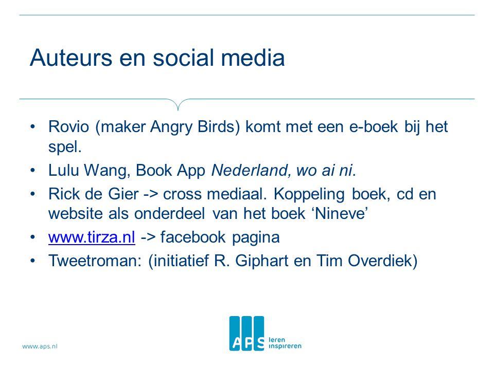 Auteurs en social media Rovio (maker Angry Birds) komt met een e-boek bij het spel.
