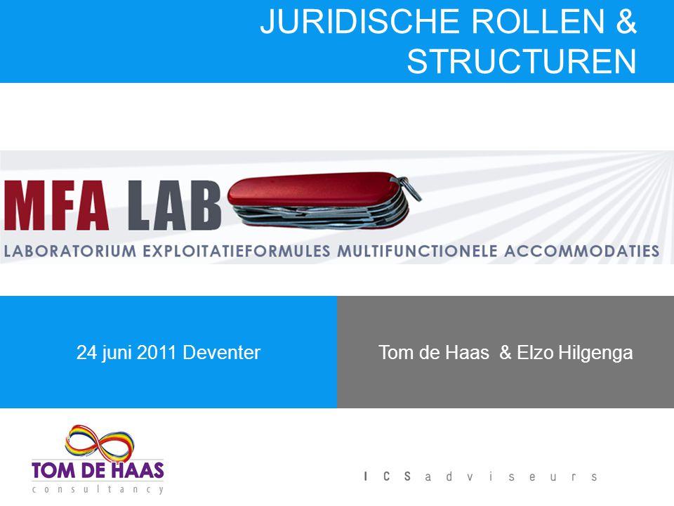 Tom de Haas & Elzo Hilgenga24 juni 2011 Deventer JURIDISCHE ROLLEN & STRUCTUREN