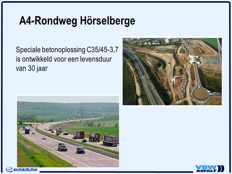 A4-Rondweg Hörselberge Speciale betonoplossing C35/45-3,7 is ontwikkeld voor een levensduur van 30 jaar