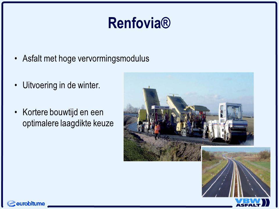 Renfovia® Asfalt met hoge vervormingsmodulus Uitvoering in de winter. Kortere bouwtijd en een optimalere laagdikte keuze