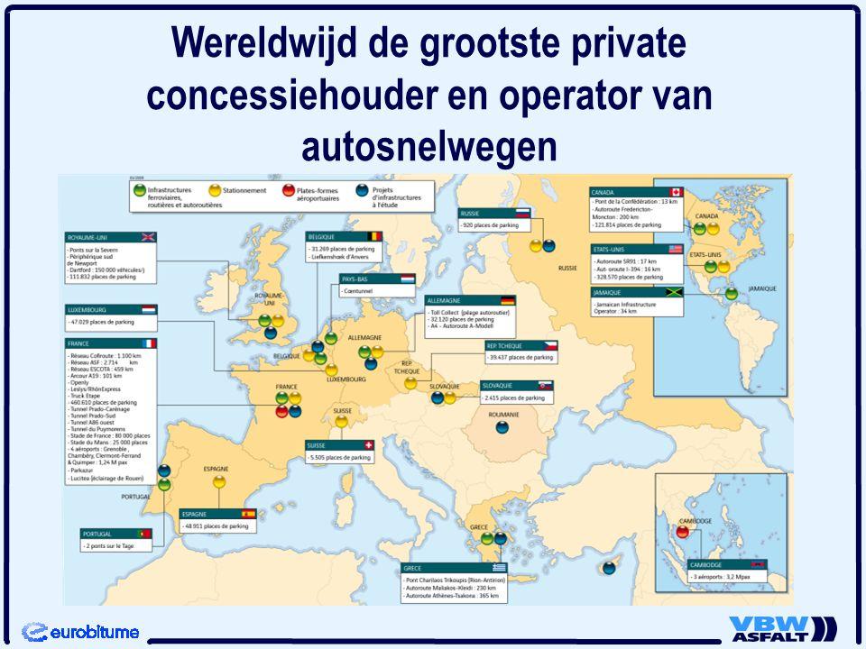 Wereldwijd de grootste private concessiehouder en operator van autosnelwegen