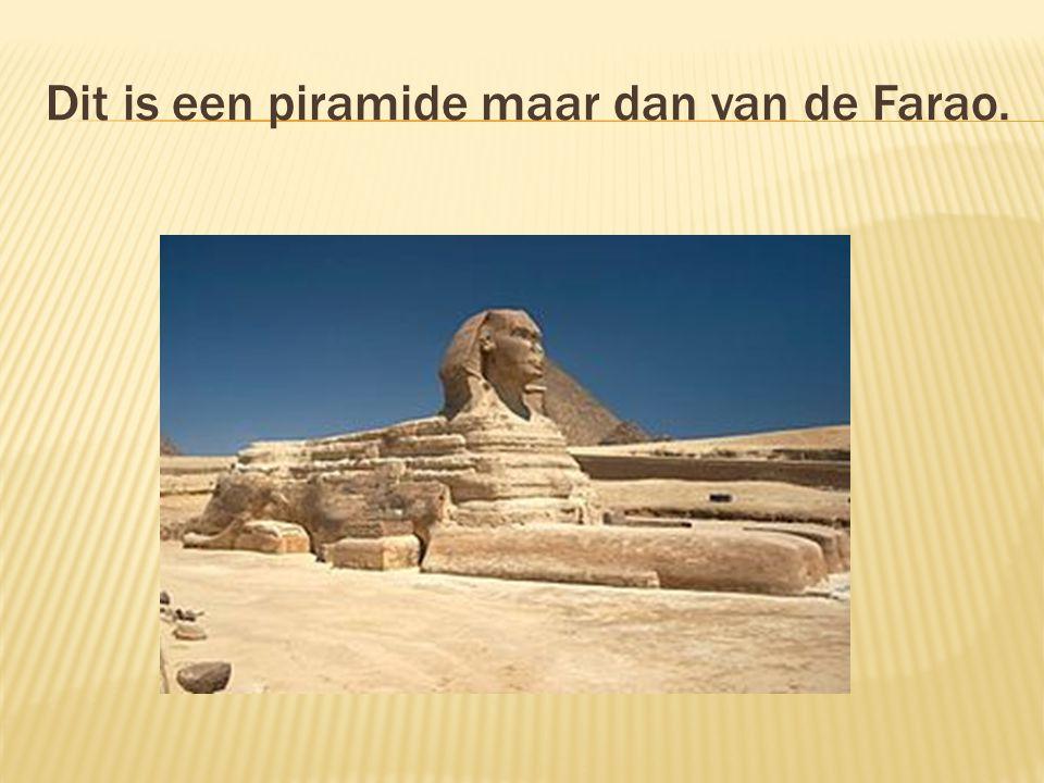 Dit is een piramide maar dan van de Farao.