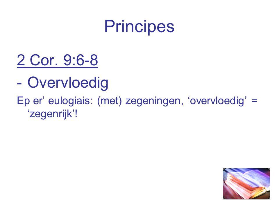 Principes 2 Cor.