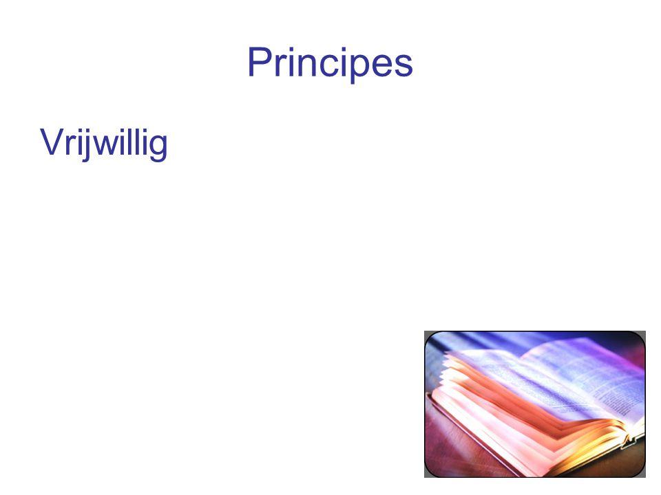 Principes Vrijwillig