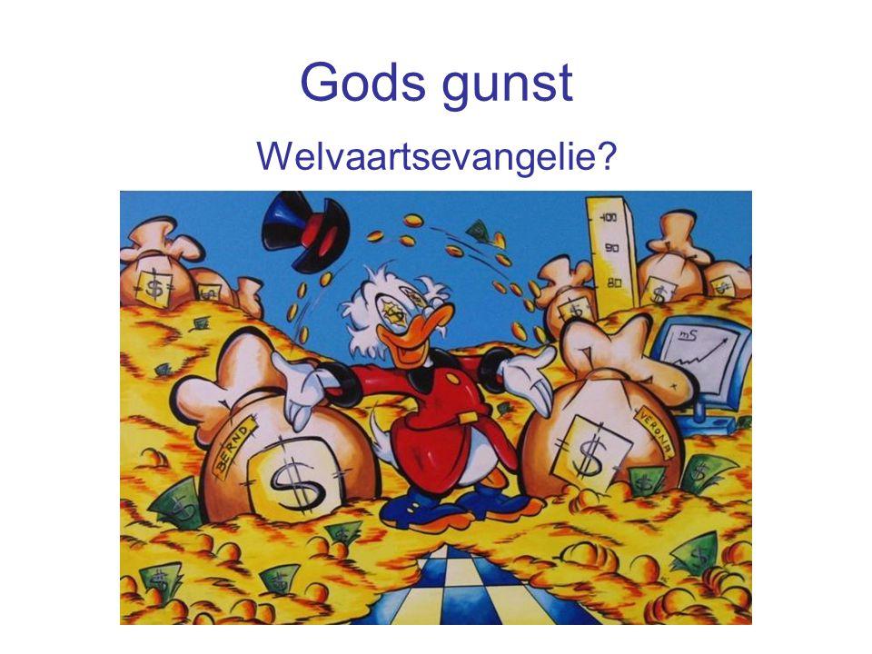 Gods gunst Welvaartsevangelie