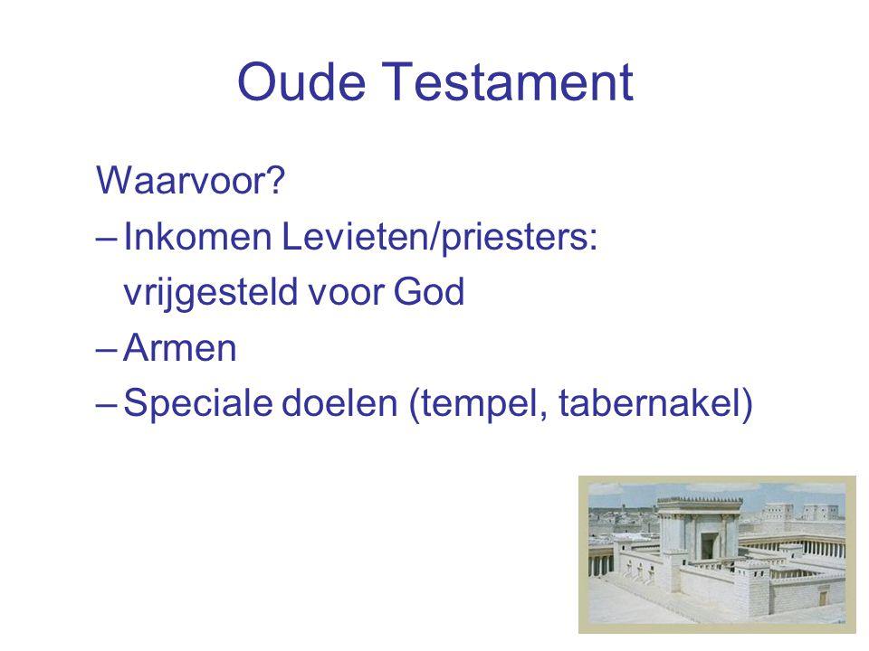 Nieuwe Testament Waarvoor geven?