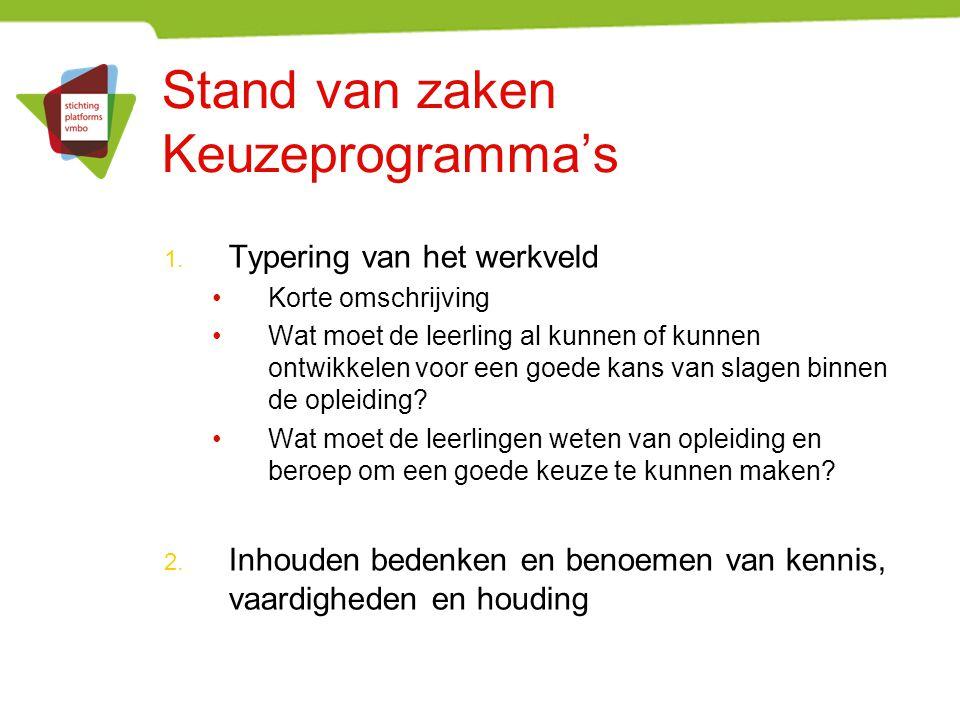 Communicatie over het project Contactpunt per school Digitale nieuwsbrief www.vernieuwingvmbo.nl En via de verschillende platforms