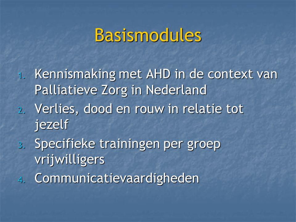 Basismodules 1. Kennismaking met AHD in de context van Palliatieve Zorg in Nederland 2.