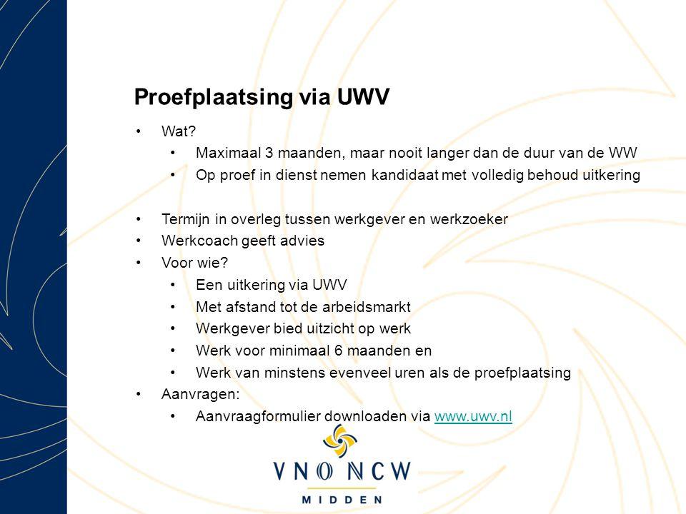 Proefplaatsing via UWV Wat.