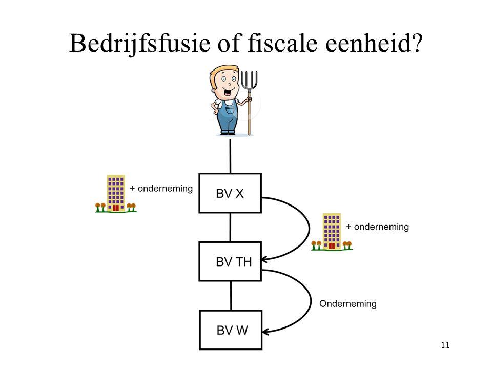 Bedrijfsfusie of fiscale eenheid? 11