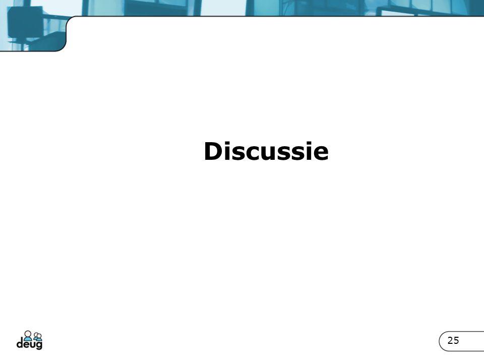Discussie 25
