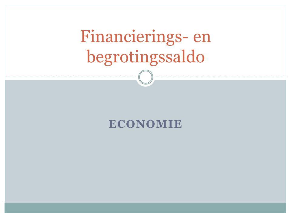 ECONOMIE Financierings- en begrotingssaldo