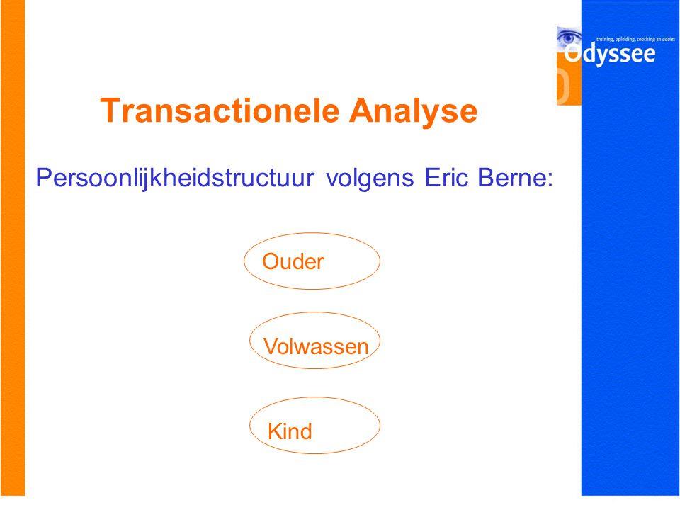 Transactionele Analyse Persoonlijkheidstructuur volgens Eric Berne: Ouder Kind Volwassen
